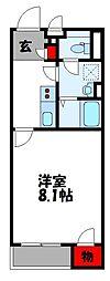 JR鹿児島本線 古賀駅 徒歩17分の賃貸アパート 1階1Kの間取り