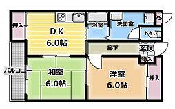 日晃マンション[4階]の間取り