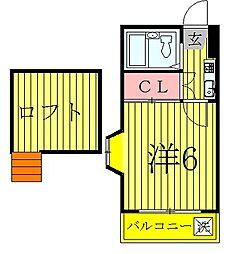 千葉県柏市東3丁目の賃貸アパートの間取り