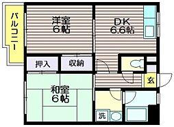 エクセル仙川[3階]の間取り