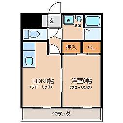 さくらハイツ III[3階]の間取り