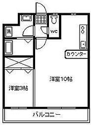 山春ビル3[201号室]の間取り