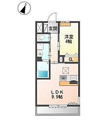 兵庫県三木市末広2の賃貸アパートの間取り
