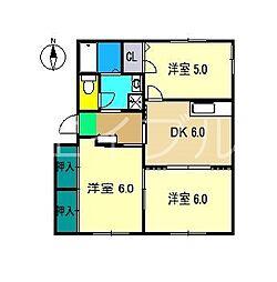 ラ・ベルターナII C棟[1階]の間取り