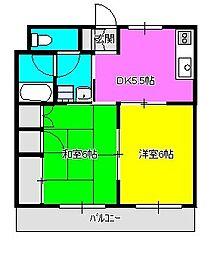 パークサイドマンション[202号室]の間取り