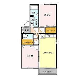 セジュール鳴丘(セジュールナルオカ)[2階]の間取り