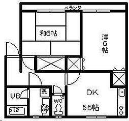 シーサイドコーポ B棟[102号室]の間取り