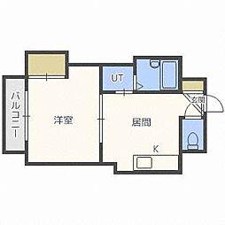 ルイーズSAPPORO[4階]の間取り