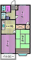 メゾンレックス[202号室]の間取り