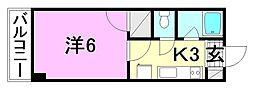 ボナール一番館[305 号室号室]の間取り