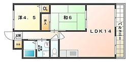 パル・メイト山本[3階]の間取り