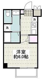 JR東海道本線 平塚駅 徒歩8分の賃貸マンション 3階1Kの間取り