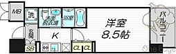 エステムプラザ梅田・中崎町Ⅲツインマークスノースレジデンス[9階]の間取り