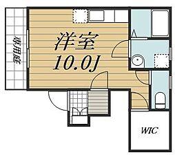千葉県四街道市みのり町の賃貸アパートの間取り