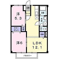 平成ヒルズ[2階]の間取り