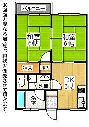 福岡県北九州市八幡西区岸の浦1丁目の賃貸アパートの間取り