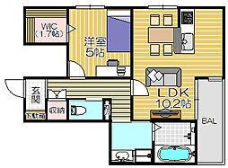 仮)尼崎市南塚口町一丁目プロジェクト[205号室]の間取り