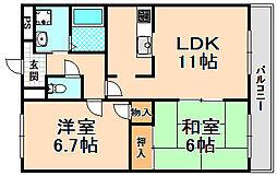兵庫県伊丹市寺本3丁目の賃貸マンションの間取り