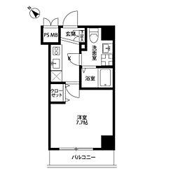 プレール・ドゥーク川崎平間[8階]の間取り