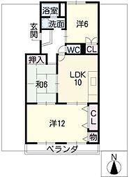 本山マンション[1階]の間取り