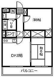 サンライズ大島[303号室]の間取り