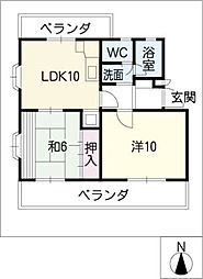 DOMUS−NANZAN[2階]の間取り