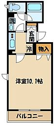 仮)厚木市栄町1丁目マンション 3階1Kの間取り