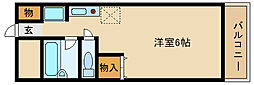 ビューハイツ武庫之荘[2階]の間取り