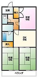 マンション豊泉[4階]の間取り