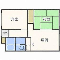 ラフォーレ新札幌B[3階]の間取り