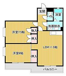 パークタウンII[1階]の間取り