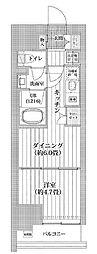 都営新宿線 菊川駅 徒歩11分の賃貸マンション 7階1DKの間取り