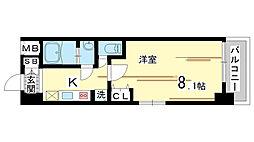 兵庫県神戸市中央区栄町通3丁目の賃貸マンションの間取り