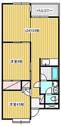 石井マンション[405号室]の間取り