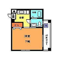 愛媛県松山市土橋町の賃貸マンションの間取り