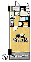 JR大阪環状線 西九条駅 徒歩4分の賃貸マンション 2階1Kの間取り