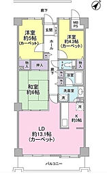 東急ドエルビレッジ松戸ビレッジ[4階]の間取り