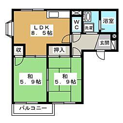 ドムスカーナ[2階]の間取り