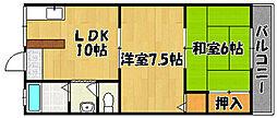 兵庫県三木市志染町広野5丁目の賃貸マンションの間取り