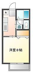 静岡県静岡市葵区瀬名中央1丁目の賃貸アパートの間取り
