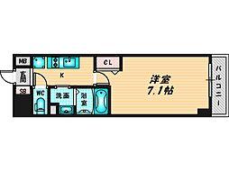 プリムール新深江 2階1Kの間取り