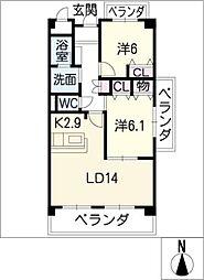 レジデンス・uI[4階]の間取り