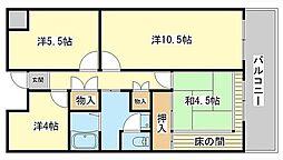 レナジア姫路WEST[4階]の間取り