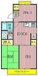 ロイヤルタウン泉CD[C201号室]の間取り