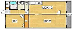 松田マンション[2階]の間取り
