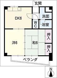 山伝マンション[3階]の間取り