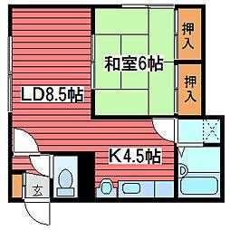 マンションT・E27[2階]の間取り