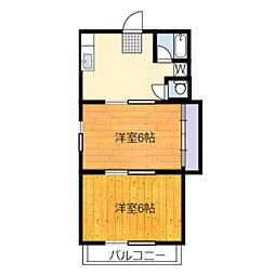 静岡県静岡市葵区瀬名2丁目の賃貸アパートの間取り