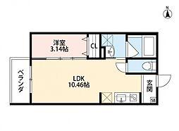 ASSO鴻池(アッソコウノイケ)[3階]の間取り