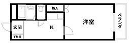 コートTAKUMI[305号室]の間取り